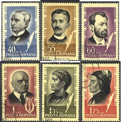 Romania 2396-2401 (complete issue) used 1965 Personalities