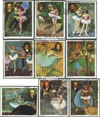 Paraguay 3291-3299 (complete issue) used 1980 Musicians and Bal