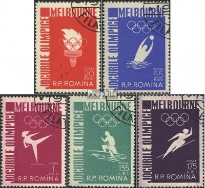 Romania 1598-1602 (complete issue) used 1956 16. Olympics Summe