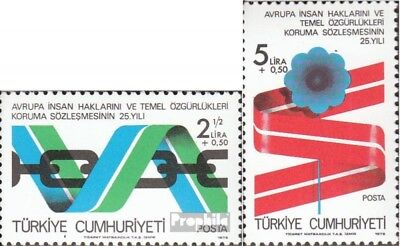 Turkey 2463-2464 (complete issue) unmounted mint / never hinged 1978 Human Right