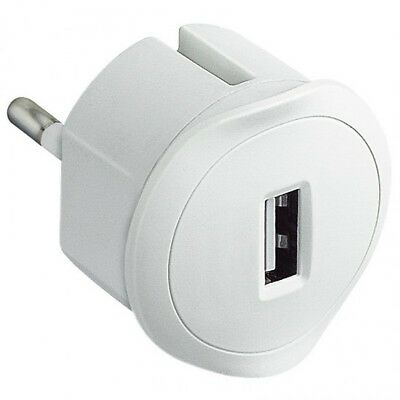 Adaptador Cargador Red USB Legrand 050680 1,5A Enchufe Blanco
