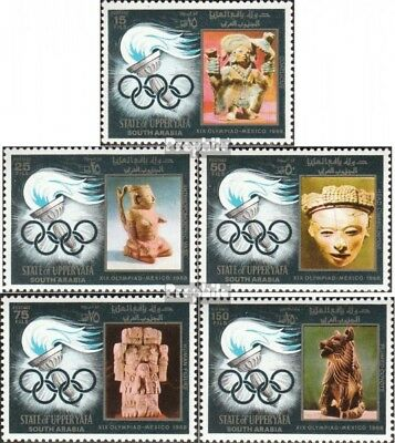 Aden-Upper Yafa 11A-15A (complete issue) used 1967 Olympics tor