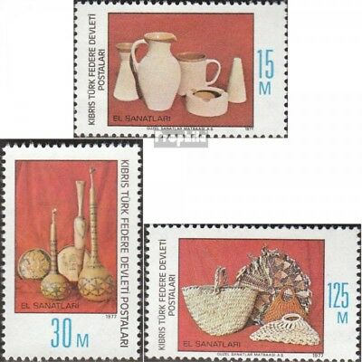 Turkish-Cyprus 43-45 (complete issue) unmounted mint / never hinged 1977 Craft