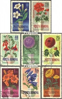 Romania 2268-2275 (complete issue) used 1964 Garden flowers