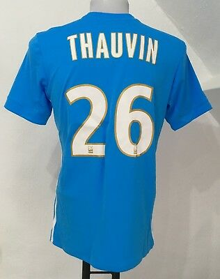 Olympic Marseille 2017/18 S/s Away Shirt Thauvin 26 By Adidas Medium No Badges