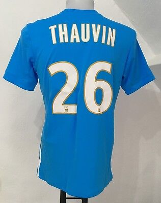 Olympic Marseille 2017/18 S/s Away Shirt Thauvin 26 By Adidas Small No Badges