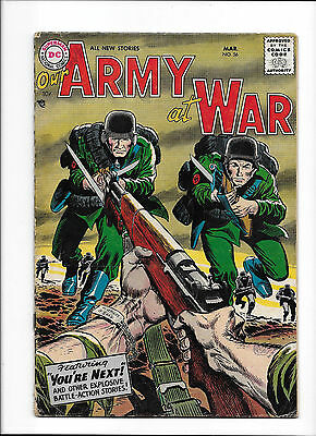 """Our Army At War #56  [1956 Vg+]  """"you're Next!"""""""