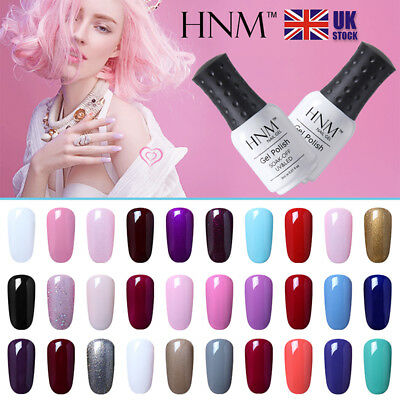 Soak Off Color Gel Nail Polish UV LED Nail Art Salon Manicure Base Top Coat HNM