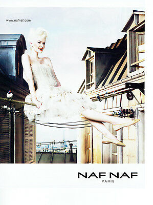 Publicite Advertising 2011 Naf Naf Pret à Porter Breweriana, Beer