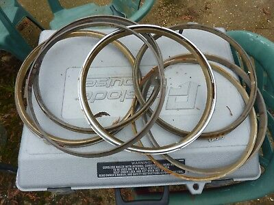 """Several Old 12"""" Dial Clock  Bezels & Sightrings- Spares Or Repair"""