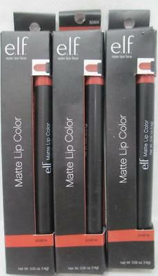 ELF Studio Matte Lip Color Praline 82464 Jumbo Sized Lip Pencil Lot of 3