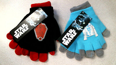 Star Wars Gloves, Kids, Boys, Convertible / Double Layer, Pick Your Color, New