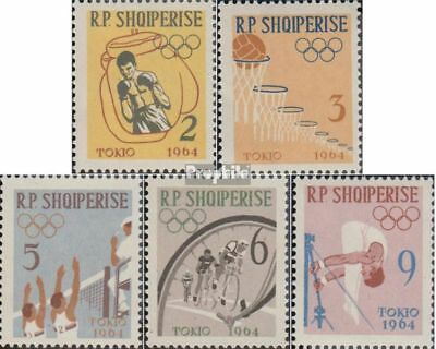 Albania 747A-751A (complete issue) unmounted mint / never hinged 1963 olympic. S