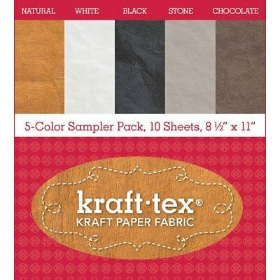 Kraft-tex 5-color Sampler Pack, 10 Sheets, 8 1/2inches X 11 Inches: Kraft Paper