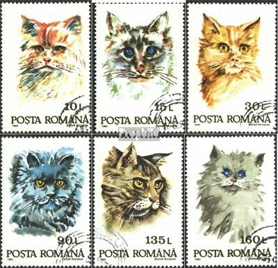 Romania 4885-4890 (complete issue) used 1993 Cats