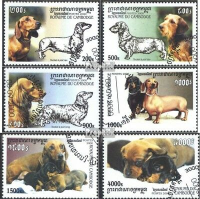 Cancelled 2000 Breeds Miniature Fine Used complete.issue. Cambodia Block274