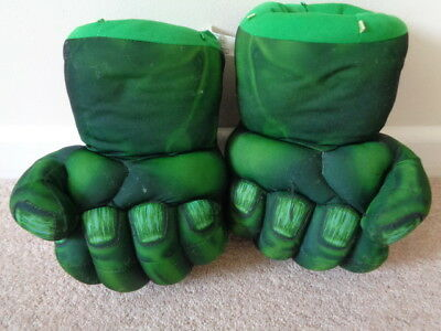 Marvel Incredible Hulk Smash Fists Talking Hands Gloves  Costume Dress Up