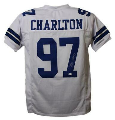 Taco Charlton Autographed Signed Dallas Cowboys XL White Jersey JSA 21551 ec0a6bc57