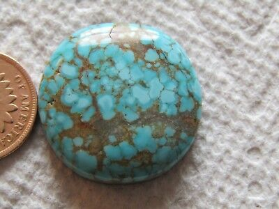 Number Eight Turquoise Cab 36 carat Cabochon #8 High Grade Blue Web