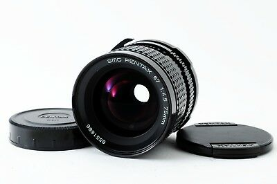 Free Shipping from Japan Pentax 67 SMC 75mm f/4.5 Prime MF Lens w Both Caps