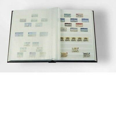 Stockbook A4, 64 white pages,divided, non-padded cover, blue