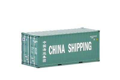 20' SHIPPING CONTAINER - CHINA SHIPPING - 1:50 Scale by WSI 04-2036