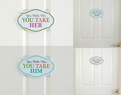 You Wake Her or Him Baby Gift Idea Nursery Wall Décor Sign Baby Shower