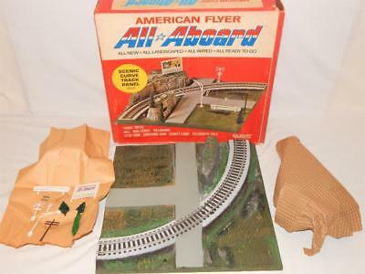 American Flyer 26101 All Aboard Scenic CURVED Panel Boxed Pikemaster Clean S