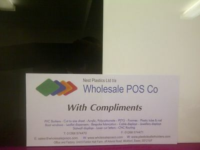 White Or Black 2Mm Thick Acrylic Sheets Gloss Surface Perspex Plastic Sheet