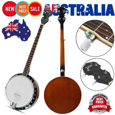 "AU STOCK 5-string 39"" Banjo Professional Sapelli Notopleura Wood Alloy  Exquisit"