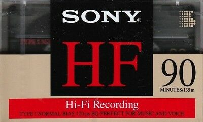 Sony Hf 90 Premium Normal Position Type I Blank Audio Cassette - Us 1992