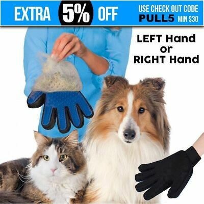 Pet Grooming Glove Brush Comb Dog Cat Horse Hair Removal Care Bath Massage