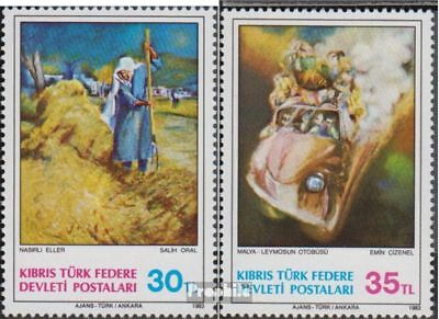 Turkish-Cyprus 125-126 (complete issue) unmounted mint / never hinged 1983 Paint