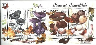 Romania block292 (complete issue) used 1994 Edible Mushrooms