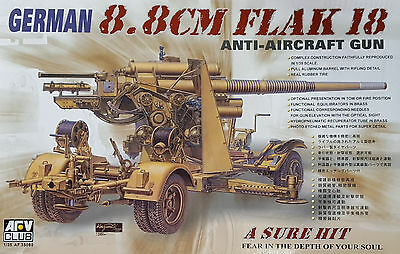 AFV CLUB 35088 WWII German 8.8cm Flak 18 Anti-Aircraft Gun in 1:35
