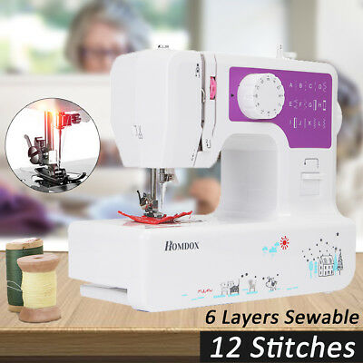 12 Stitches Portable Multi-Function USB Electric Overlock Sewing Machine Home