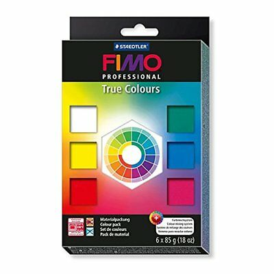 Staedtler Fimo Professional True Colours Oven Bake Modelling Clay Set 6 X 85G