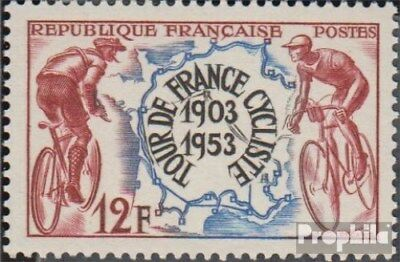 France 977 (complete issue) unmounted mint / never hinged 1953 tour de FRANCE