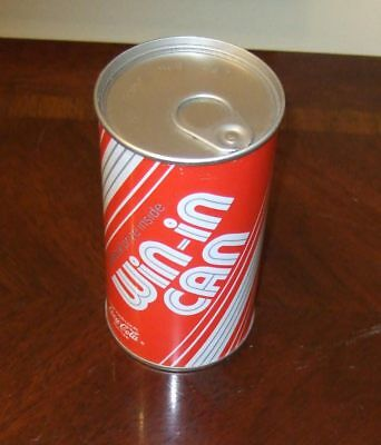 Vintage Coca-Cola Win-In-Can~t-shirt & 50 cent coupon inside~new/unused