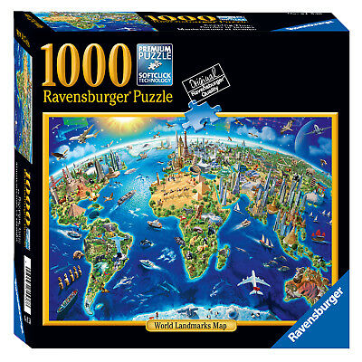 World landmarks map 1000 piece jigsaw puzzle ravensburger world landmarks map 1000 piece jigsaw puzzle ravensburger gumiabroncs Images