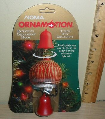 New Old Stock ~ Noma Ornamotion Bell ~ Rotating Ornament Hook