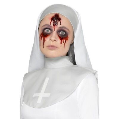 Latex Inverted Cross Wound Prosthetic Halloween Nuns Special FX Make Up