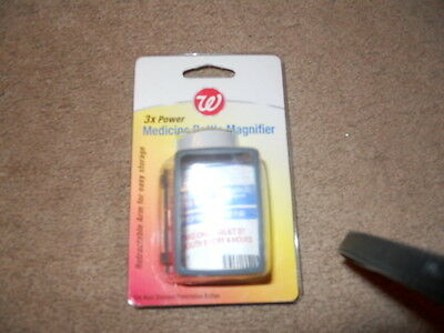 Walgreens 3x Power Medicine Bottle Magnifier NEW