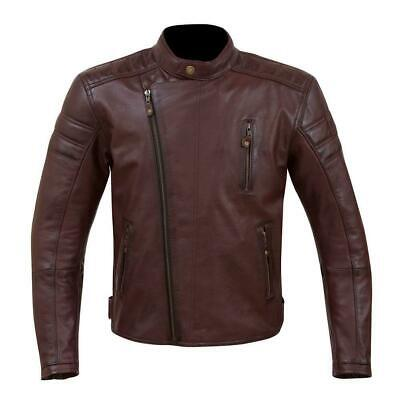 Merlin Lichfield leather jacket oxblood mens motorcycle urban casual cafe racer