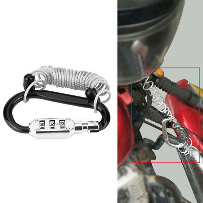 Anti Theft Motorcycle Helmet Lock W/ Resettable Code PIN Spring Combination Lock