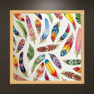 5D DIY Diamond Embroidery Painting Feather Rhinestone Cross Stitch Home Decor