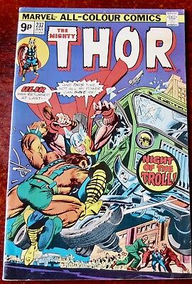 Marvel The Mighty Thor Comic No. 237 July 1975 Usa Very Good