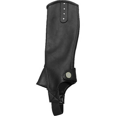 Mark Todd Kids Toddy Synthetic Diamante Half Footwear Chaps - Black All Sizes