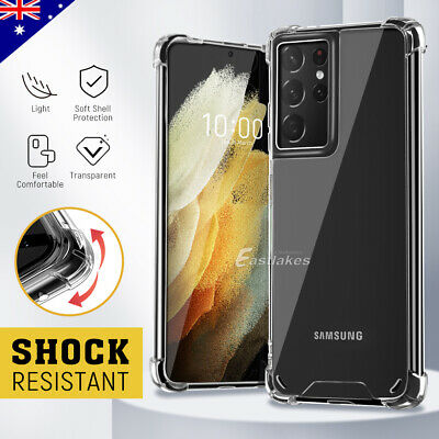 For Samsung Galaxy S10 S9 S8 Plus Note 10 9 Case Shockproof Clear Bumper Cover