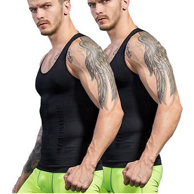Men's Belt Top Shapewear Body Fat Burner Vest Sauna Sweat Hot Shaper Weight Loss